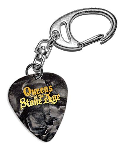 Queens Of The Stone Age Púa de Guitarra Llavero Keyring Black Pearl ( GHF )