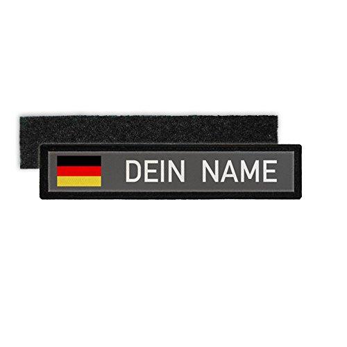 Copytec Deutschland Namenschild Patch mit Namen Bundeswehr Polizei Feuerwehr #24346