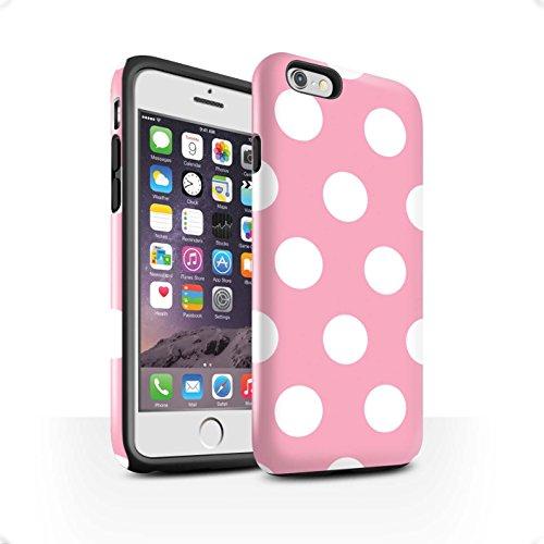 STUFF4 Glanz Harten Stoßfest Hülle / Case für Apple iPhone 7 Plus / Lila Muster / Tupfen Muster Kollektion Hellrosa