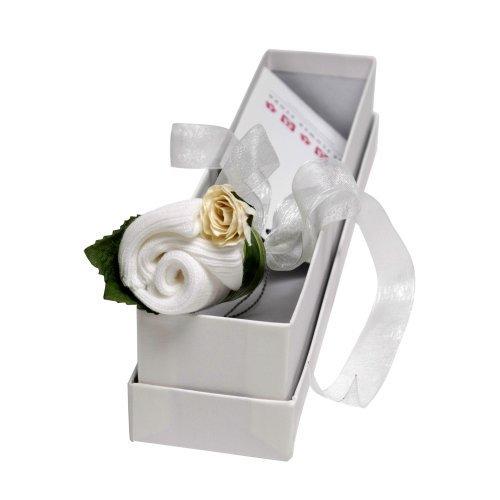 Fleur Bud certificat de naissance souvenir - Blanc classique