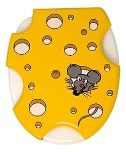 Wenko Lunettes de WC motif petite souris dans gruyère