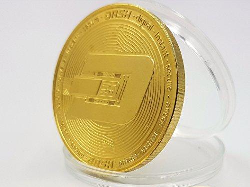 Dash Crypto Währung Münze Souvenir Vergoldet