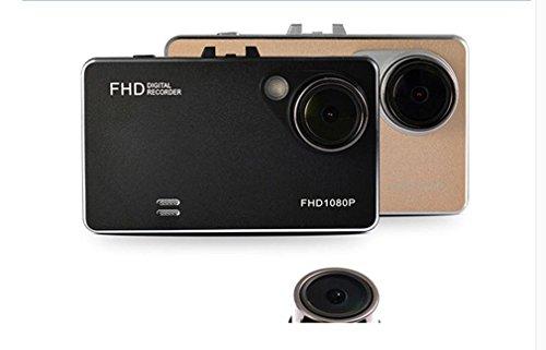 Nola Sang Car Dash Cam Kamera DVR Digital Driving Video Recorder 160-Grad Super Weitwinkel Fahren Recorder WDR Nachtsicht Ultrathin - Schwarz