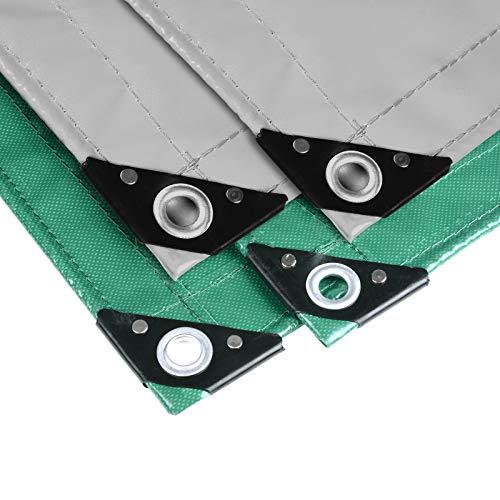 Holistar 0930091 telone impermeabile per esterno in pvc 500g/m² rinforzato con occhielli copertura per mobili 2x3m