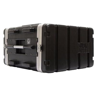 Black Case ABS 6U Transportkiste / Rack, Schwarz