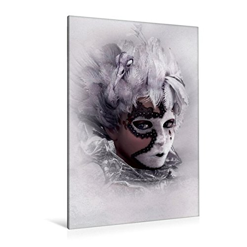 Premium Textil-Leinwand 80 cm x 120 cm  hoch, Hinter der Maske | Wandbild, Bild auf Keilrahmen, Fertigbild auf echter Leinwand, Leinwanddruck (CALVENDO (Feen Maske)
