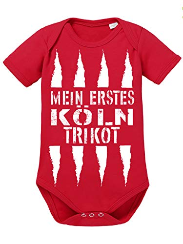 clothinx Baby Body Bio Mein erstes Köln Trikot Rot Gr. 68