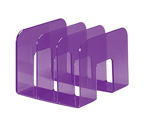 DURABLE - Porta cataloghi Trend, 3 comparti, per cataloghi e brochure, 215x165x210 mm, viola traslucido (cod. #1701395992)