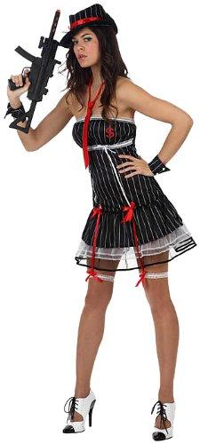 Atosa 10436 - Verkleidung sexy weibliche Gangster, Größe (Gangster Weibliche)