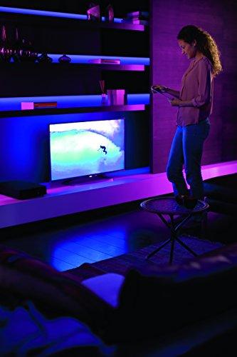 410y5uucE9L [Bon Plan] Philips Hue Ruban Lumineux Lightstrip White And Color Ambiance de 2Mètres, Bande Flexible Lumineuse Contrôlée Par Smartphone - Lampe Led à Variation de Couleurs - Fonctionne avec Alexa