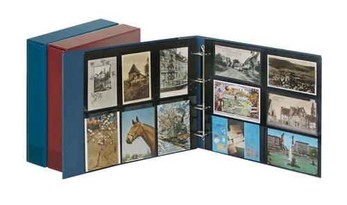 Preisvergleich Produktbild Lindner 3008 - W Set: Postkarten-Album STANDARD XL mit Kassette-weinrot