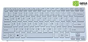 GIZGA OEM Laptop Keyboard for Sony VAIO SVE14 (White with Panel)