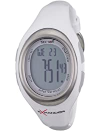 Sector Sports Watch R3251173515 In Collection Cardio with Digital Display and White Strap