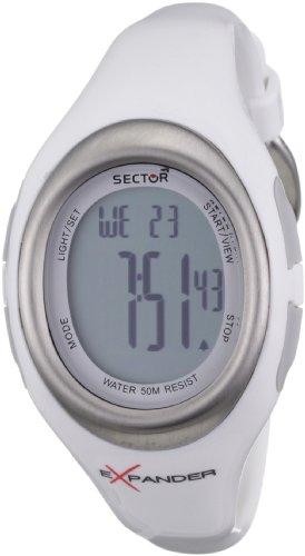 Sector Expander CARDIO R3251173515 - Reloj unisex de cuarzo, correa de silicona color blanco