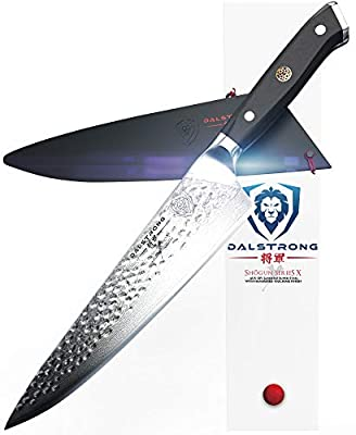"DALSTRONG Chef's Knife - 10.25"" - Large - Shogun Series X Professional Gyuto - Japanese AUS10-V 67-Layers - Hammered Finish - Sheath"