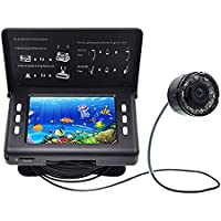 WWGG 30m cámara de Pesca, Color CCD 1000TVL Submarino Fish Finder Kit, con Pantalla
