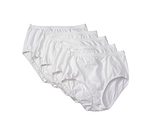 Hanes 5-Pack White Briefs 9 (White Hanes Panty)
