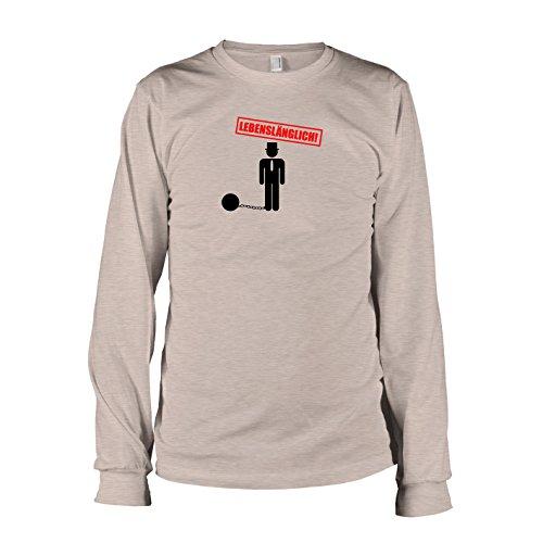 TEXLAB - Junggesellenabschied Lebenslänglich - Langarm T-Shirt Graumeliert