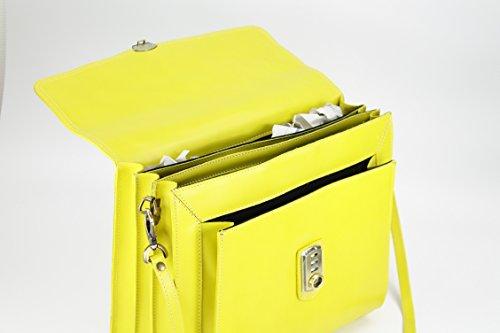 Belli , sac à main femme jaune citron