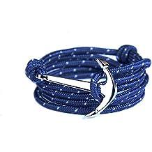 Yiran® Oro Blanco Gancho ancla pulsera de cierre en Colorful cuerdas de nailon