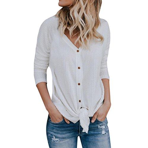 ESAILQ DamenSommer T-Shirt/Oberteile Kurzarm - Damen(S,Weiß)