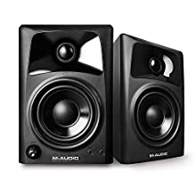 M-Audio AV32 - Compact Active Desktop Reference Speakers (Pair) for Superior Sound, Perfect for Professional Media Creation and an Immersive Gaming Experience