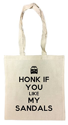Honk If You Like My Sandals Cotton Borsa Della Spesa Riutilizzabile Cotton Shopping Bag Reusable