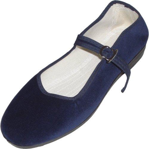 Cina scarpe di velluto numeri 33-42 vari colori Blu