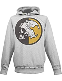 de045bfc6891f Musterbrand Metal Gear Solid Hoodie Men MSF Instructor Skull Sweater  Sweatshirt Grey