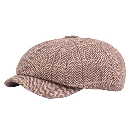TENDYCOCO Schirmmütze Berets Retro All-Match Decor Mütze für Männer nach Hause Reisen Party (Kaffee)