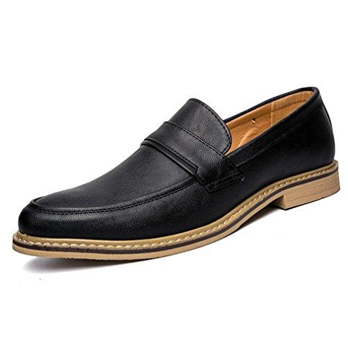 Printemps Hommes Loisirs Derby Business Hommes Chaussures à Lacet Mode pour Travail Noir