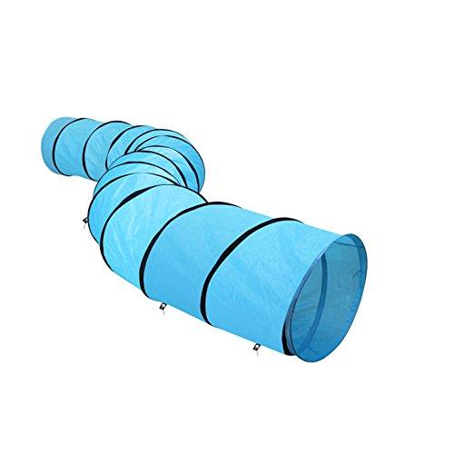 SavingPlus - Túnel para mascotas, para entrenamiento de agilidad de perro, 5,25 m, para actividades al aire libre, juego de ejercicio, color azul