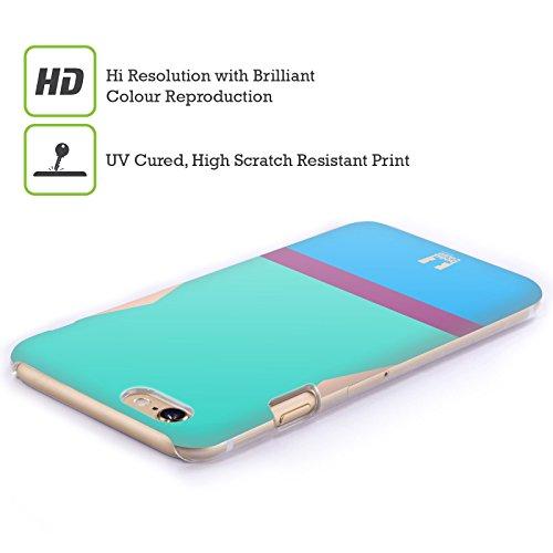 Head Case Designs Scollo A V Mattoncini Colorati Cover Retro Rigida per Apple iPhone 7 Plus / 8 Plus Costume Da Bagno