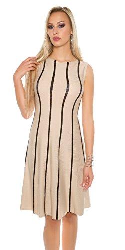 In-Stylefashion - Robe - Femme beige beige taille unique Beige