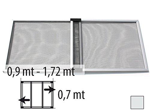 Zanzariera estensibile da 0,9 x 0,7 metri per finestra e porta zanzariera estensibile 0,9 x 0,7 grigio