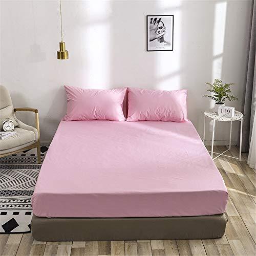 WENXIAOXU Staubdichte Anti-Milben-nschoner für Home Schlafzimmer Bettlaken,Der optimale und perfekte nbezug für Ihr Bett,Wasserdichter Normallack, derrosafarbenes120 * 200 * 30cmversandet