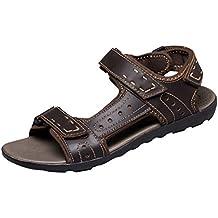 Vanghe & Club aperte sulle dita estivi da uomo, in pelle, con chiusura in Velcro per l'atletica, il Trail running Shoes-Sandali da passeggio