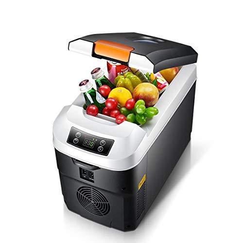 Auto Kleiner Kühlschrank mit kleinem Verwendungszweck, 11L Fassungsraum-Heizbox Auto-Einzel-Tür-Kühlgerät, Kunststoff (220 V) ! (Style : CNC) - Doppel-tür Kompakt Kühlschrank