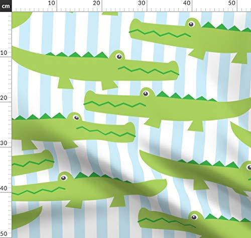 Alligator, Süßes Baby, Babysteppdecke Stoffe - Individuell Bedruckt von Spoonflower - Design von Lilcubby Gedruckt auf Baumwoll Spandex Jersey - Alligator-erwachsenen T-shirt