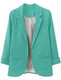 7100d93c99fab Blazer para Mujer STRIR Mujer Manga 3 4 Blazer Elegante Oficina Negocios  Parte Traje De Chaqueta Slim Fit Abrigo…