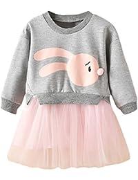5d39e5ee7 HCFKJ Ropa Bebe NiñA Invierno NiñO Manga Larga Camisetas Beb Conjuntos Moda NiñOs  Bebé NiñA Dibujos Animados Conejito Princesa…