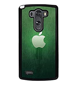 Fuson Premium 2D Back Case Cover Green apple With Multi Background Degined For LG G3::LG G3 D855