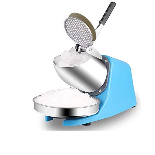 TYUIO Afeitadora eléctrica de Hielo 350W 1400r / min W/Hoja de Acero Inoxidable Máquina de Cocina de máquina de Hacer Hielo con Forma de Cono de Hielo raspado (Azul)