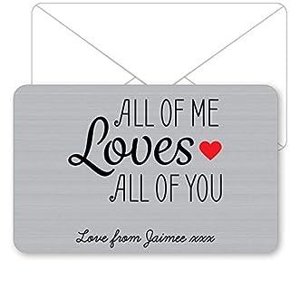 Personalised Sentimental Keepsake All of Me Loves All of You Metal Wallet Card
