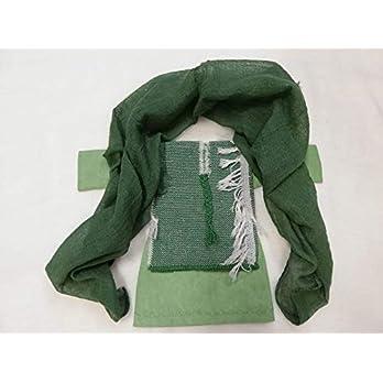 Kleidung für Erzählfiguren Frau 28 cm – Grün mit Überwurf