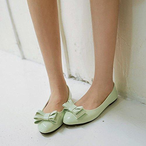 MissSaSa Donna Scarpe col Senza Tacco Pumps Rotonda Casual Verde chiaro