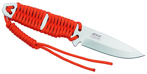 Eka Cord Blade W9 Ceinture Couteaux en acier, Sandvik 12 C27, Paracord wicklung Orange, gaine Kydex avec clip ceinture