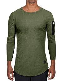 AitosuLa Langarmshirt Herren Long Sleeve T-Shirt Rundhals Einfarbig Base  Tops Oberteile Langarm Shirt Slim 400e2ab59e