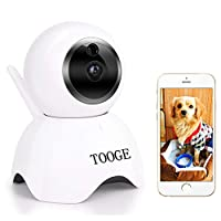 TOOGE WIFI Pet Camera Dog Camera Pet Monitor Indoor Cat Camera for Home Security/Baby/Elder/Nanny Motion Detection Night Vision 2-Way Audio