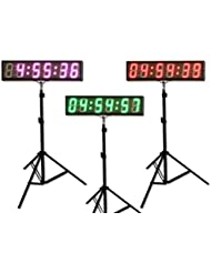 "EU 5"" 6 digits LED Countdown Clock Race Timing For Running Events APP With IR Remote"
